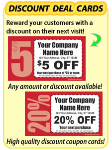 Discount Deal Business Cards