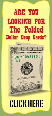 Realistic Dollar bill drop cards