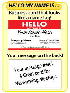 Hello my name is: Business Cards